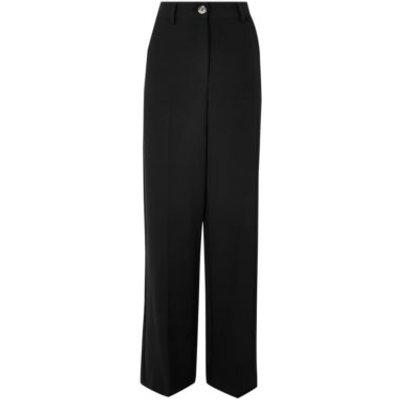 M&S Womens Wide Leg Trousers - 10SHT - Black, Black,Blue,Praline,Bright Red,Ivory
