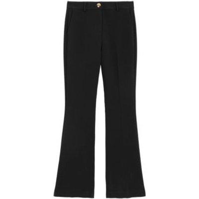 M&S Womens Slim Fit Flared Trousers - 8REG - Black, Black