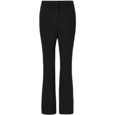 M&S Womens Slim Bootcut Trousers - 6REG - Black, Black