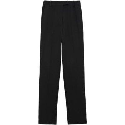 M&S Womens Mia Slim Ankle Grazer Trousers - 6LNG - Black, Black