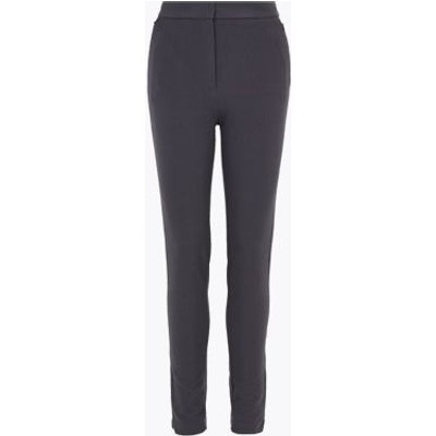 M&S Womens Skinny Ankle Grazer Trousers with Stretch - 6REG - Charcoal, Charcoal,Black