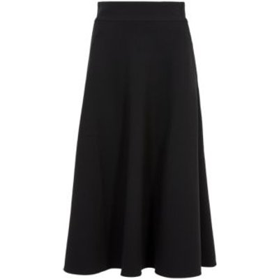 M&S Womens Midi Circle Skirt - 6LNG - Black, Black