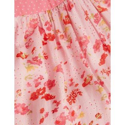 M&S X Ghost Womens Floral V-Neck Angel Sleeve Midi Tea Dress - 6REG - Pink Mix, Pink Mix