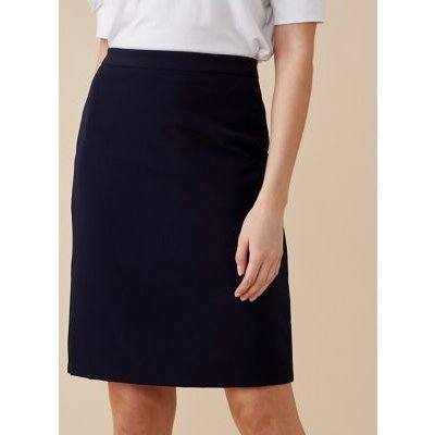 M&S Finery London Womens Petite Knee Length Pencil Skirt - 18 - Navy, Navy