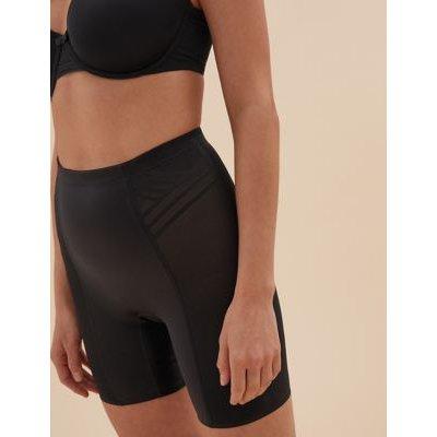 "M&S Womens Firm Control Magicwearâ""¢ Geometric Thigh Slimmer - 8 - Black, Black,Opaline"