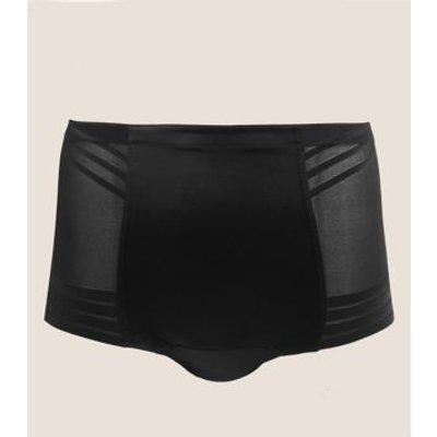 """M&S Womens Firm Control Magicwearâ""""¢ Geometric Low Leg Knickers - 18 - Black, Black,Opaline"""