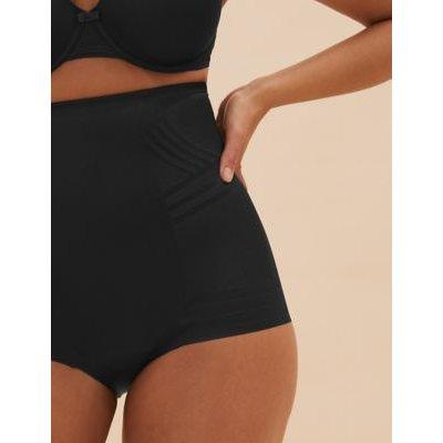 "M&S Womens Firm Control Magicwearâ""¢ Geometric Low Leg Waist Cincher - 16 - Black, Black,Opaline"