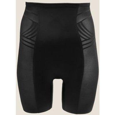 "M&S Womens Firm Control Magicwearâ""¢ Geometric Waist & Thigh Cincher - 18 - Black, Black,Opaline"