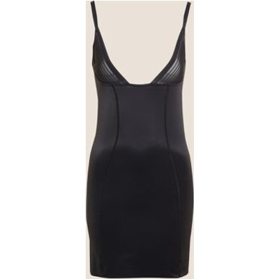 M&S Womens Firm Control Sheer Wear Your Own Bra Shaping Full Slip - 8 - Black, Black,Opaline