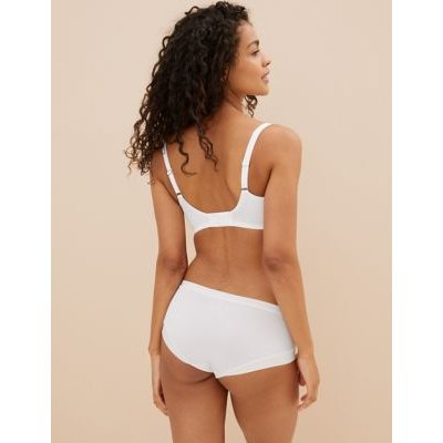 M&S Womens Embrace Underwired Extra Support Bra F-J - 32G - White, White,Black