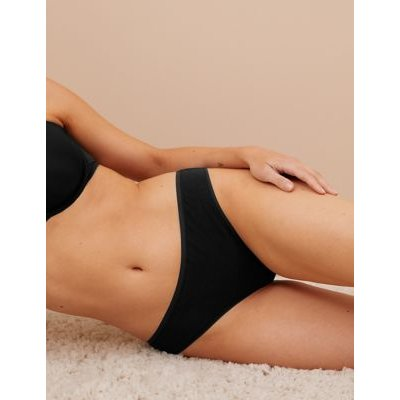 M&S Womens 5pk No VPL Modal Brazilian Knickers - 12 - Black, Black