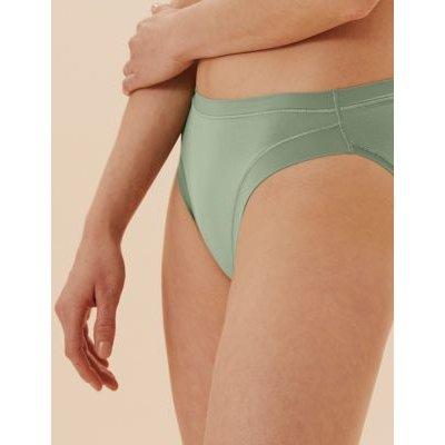 "M&S Body Womens 3pk Flexifitâ""¢ Modal High Leg Knickers - 6 - Khaki, Khaki,Opaline,Black"