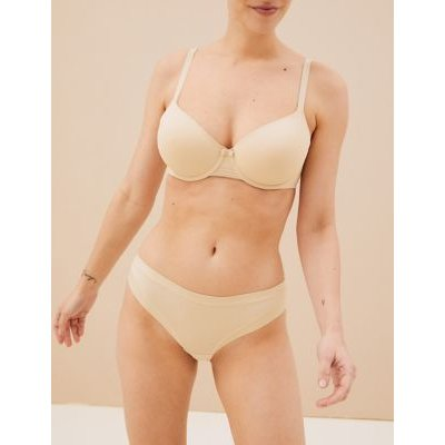 "M&S Body Womens 3pk Flexifitâ""¢ Modal Brazilian Knickers - 8 - Soft Opaline, Soft Opaline,Black,Khaki"