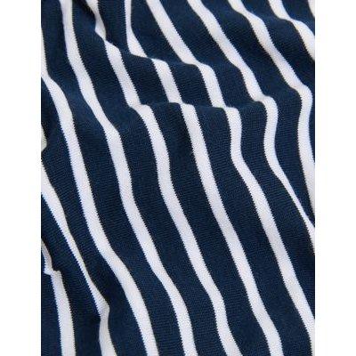 M&S Womens 5pk Supima Cotton Body High Leg Knickers - 8 - Navy Mix, Navy Mix