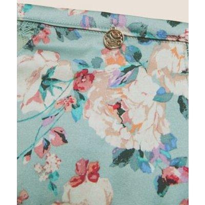 M&S Rosie Womens Silk & Lace Floral Brazilian Knickers - 8 - Light Blue Mix, Light Blue Mix