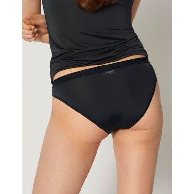 M&S Sloggi Womens Wow Comfort High Leg Knickers - Black, Black,Beige