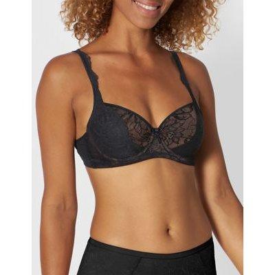 M&S Triumph Womens Amourette Charm Lace Balcony Bra B-E - 32C - Black, Black