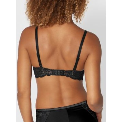 M&S Triumph Womens Amourette Charm Lace Trim Plunge Bra A-D - 34A - Black, Black