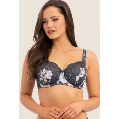 M&S Fantasie Womens Pippa Underwired Side Support Bra D-HH - 30DD - Slate, Slate