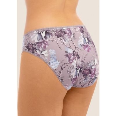 M&S Fantasie Womens Ellyn Floral High Rise Midi Knickers - XS - Pink, Pink