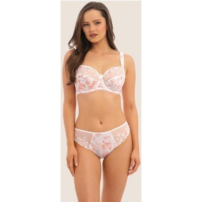 M&S Fantasie Womens Thea Floral High Rise Midi Knickers - Sorbet, Sorbet
