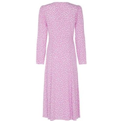 M&S Finery London Womens Crepe Floral V-Neck Midi Tea Dress - 18 - Pink Mix, Pink Mix