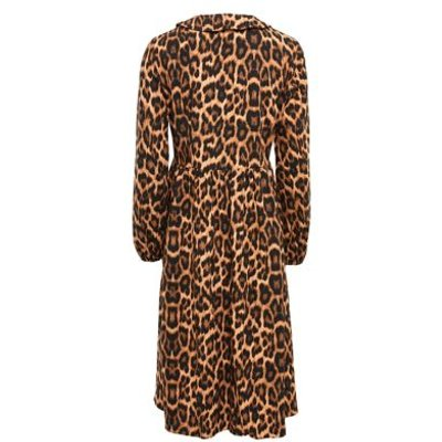 M&S Finery London Womens Cotton Animal Print Collared Smock Dress - 16 - Black/Brown, Black/Brown