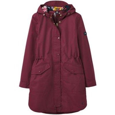 M&S Joules Womens Waterproof Hooded Longline Jacket - 8 - Purple, Purple