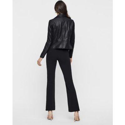 M&S Y.A.S Womens Leather Biker Jacket - Black, Black