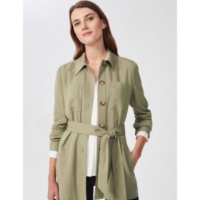 M&S Hobbs Womens Belted Utility Jacket - 6 - Green, Green