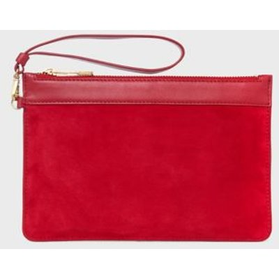 M&S Hobbs Womens Suede Clutch Bag - 1SIZE - Red, Red