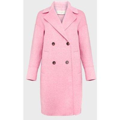 M&S Hobbs Womens Wool Pea Coat - 8 - Pink Mix, Pink Mix