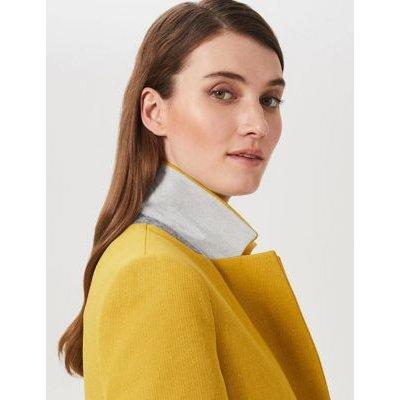 M&S Hobbs Womens Pea Coat - 8 - Yellow, Yellow