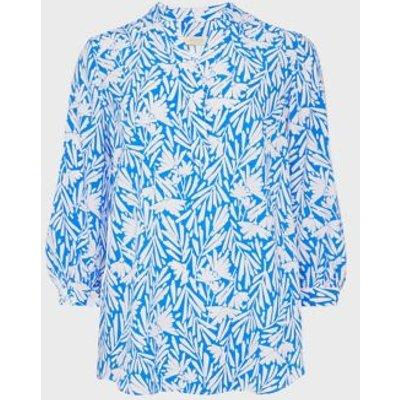 M&S Hobbs Womens Floral Print 3/4 Sleeve Blouse - 8 - White Mix, White Mix