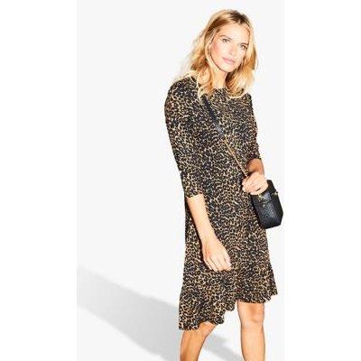 M&S Sosandar Womens Jersey Animal Print Shift Dress - 20 - Multi, Multi