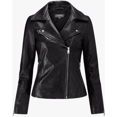 M&S Sosandar Womens Leather Biker Jacket - 6 - Black, Black