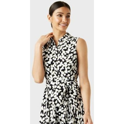 M&S Hobbs Womens Printed Shirt Dress - 8 - Navy Mix, Navy Mix