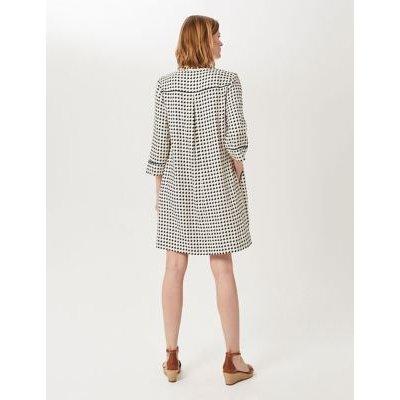 M&S Hobbs Womens Geometric V-Neck Tunic Dress - 8 - Multi/Neutral, Multi/Neutral