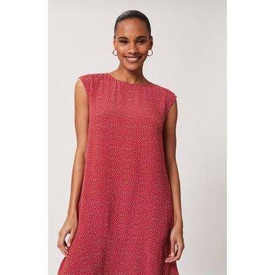 M&S Hobbs Womens Polka Dot Sleeveless Shift Dress - 8 - Pink Mix, Pink Mix