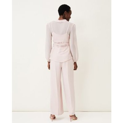 M&S Phase Eight Womens Wide Leg Trousers - 10 - Pink, Pink