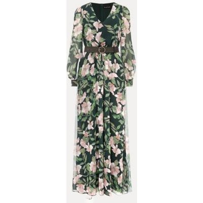 M&S Phase Eight Womens Floral V-Neck Belted Maxi Dress - 8 - Multi, Multi