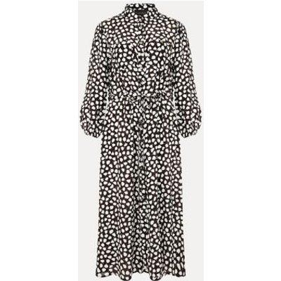 M&S Phase Eight Womens Leaf Print Midi Shirt Dress - 8 - Cream, Cream