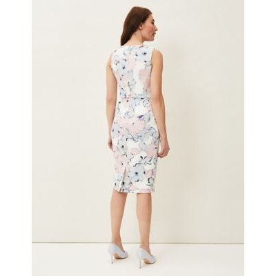 M&S Phase Eight Womens Floral Shift Dress - 16 - Cream, Cream