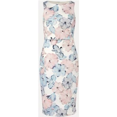 M&S Phase Eight Womens Floral Shift Dress - 16 - Cream, Cream