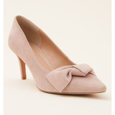M&S Phase Eight Womens Suede Bow Court Shoes - 4 - Neutral, Neutral