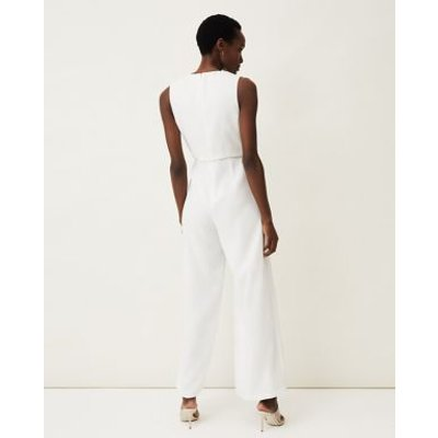 M&S Phase Eight Womens Frill Detail Sleeveless Jumpsuit - 16 - Cream, Cream