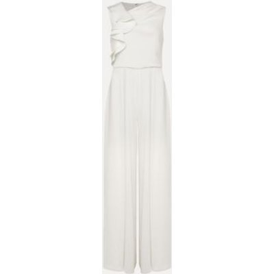 M&S Phase Eight Womens Frill Detail Sleeveless Jumpsuit - 18 - Cream, Cream