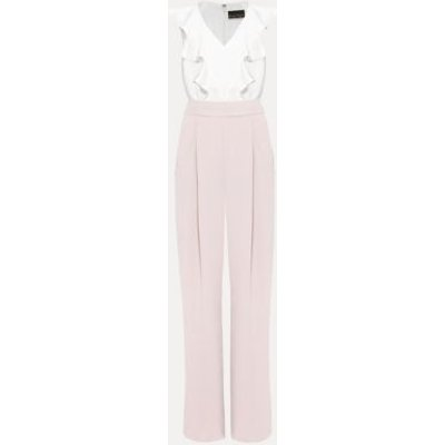 M&S Phase Eight Womens Frill Detail Sleeveless Waisted Jumpsuit - 18 - Pink, Pink