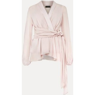 M&S Phase Eight Womens V-Neck Long Sleeve Blouse - 10 - Pink, Pink