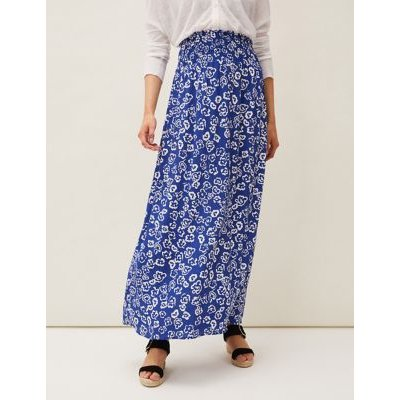 M&S Phase Eight Womens Floral Maxi Skirt - 8 - Blue Mix, Blue Mix